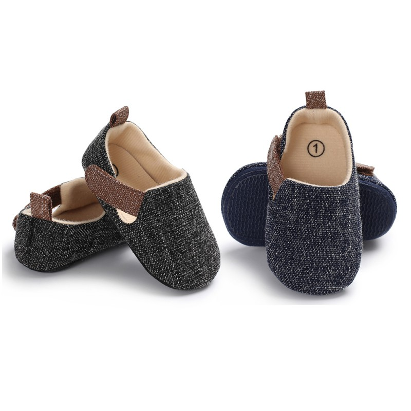 Baby Boy Fashion The First Walker Classic Solid Color Newborn Casual Shoes Children Cotton Shoes