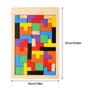 Image 5 - Baby Colorful Jigsaw Board Kids Wooden Puzzles Toys Children Magination Intellectual Educational Toys For Children Gift