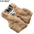 Women Real Fur Vest Genuine Rabbit Fur Gilet Short Fur Waistcoat Tops Sleeveless Natural Fur Coat SWQ0089 -5