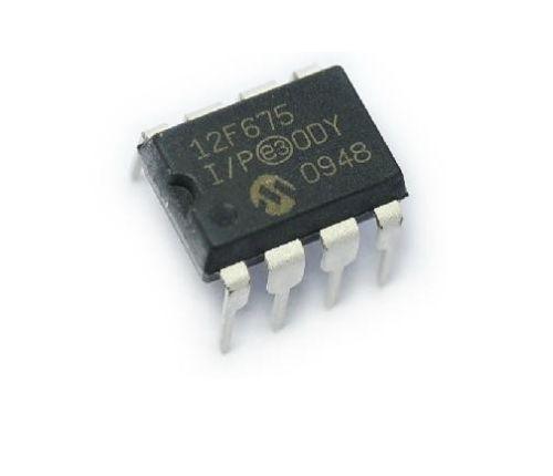 5 Pcs IC PIC12F675-I/P PIC12F675 DIP8 MCU CMOS FLASH-BASE 8BIT 50pcs pic12f629 i p pic12f629 dip 8 mcu cmos 8bit 1k flash new