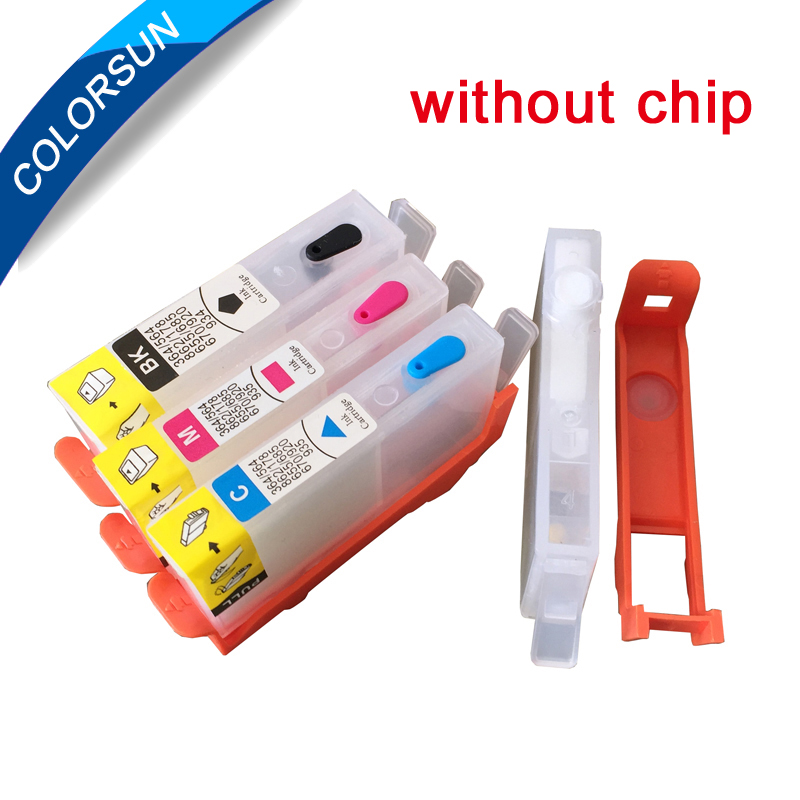 4pcs <font><b>Refillable</b></font> Ink Cartridges For <font><b>903</b></font> 904 905 for OfficeJet 6950 6956 OfficeJe t Pro 6960 6970 without chip image