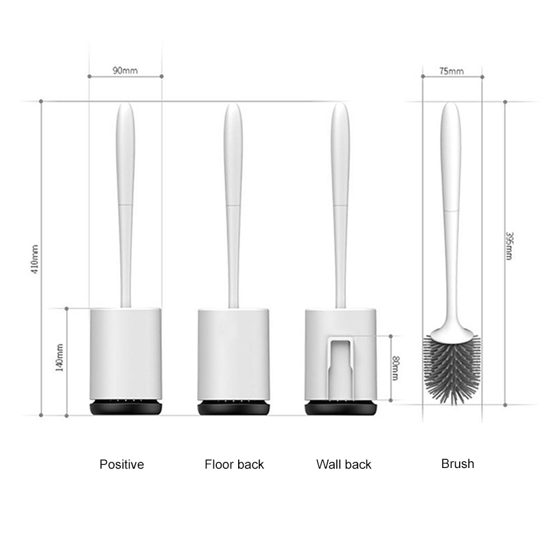Self Cleaning Rubber Toilet Brush - Wall Hanging  5