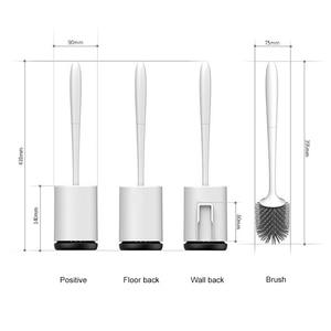 Image 5 - ONEUP TPR tuvalet fırçası kauçuk kafa tutucu temizleme fırçası tuvalet duvar asılı ev zemin temizleme banyo aksesuarları
