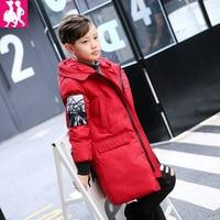 2017 New Winter Jackets For Boys Fashion Boy Thicken Snowsuit Children Down Coats Outerwear Warm Tops