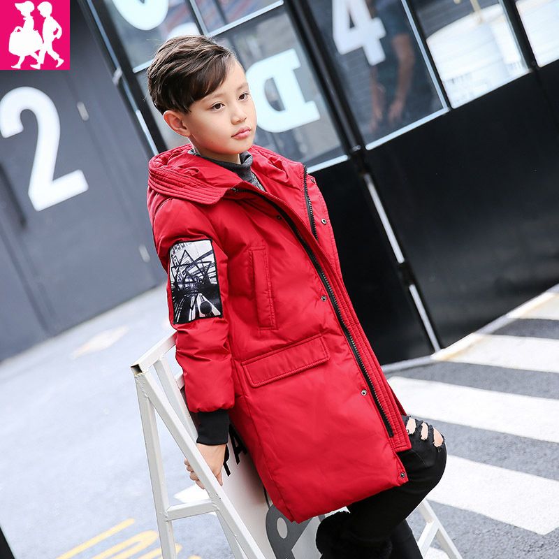 2018 New Winter Jackets For Boys Fashion Boy Thicken Snowsuit Children Down Coats Outerwear Warm Tops Clothes Big Kids Clothing 2017 winter down jackets for boys