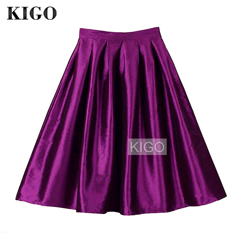 High Waisted Purple Skirt