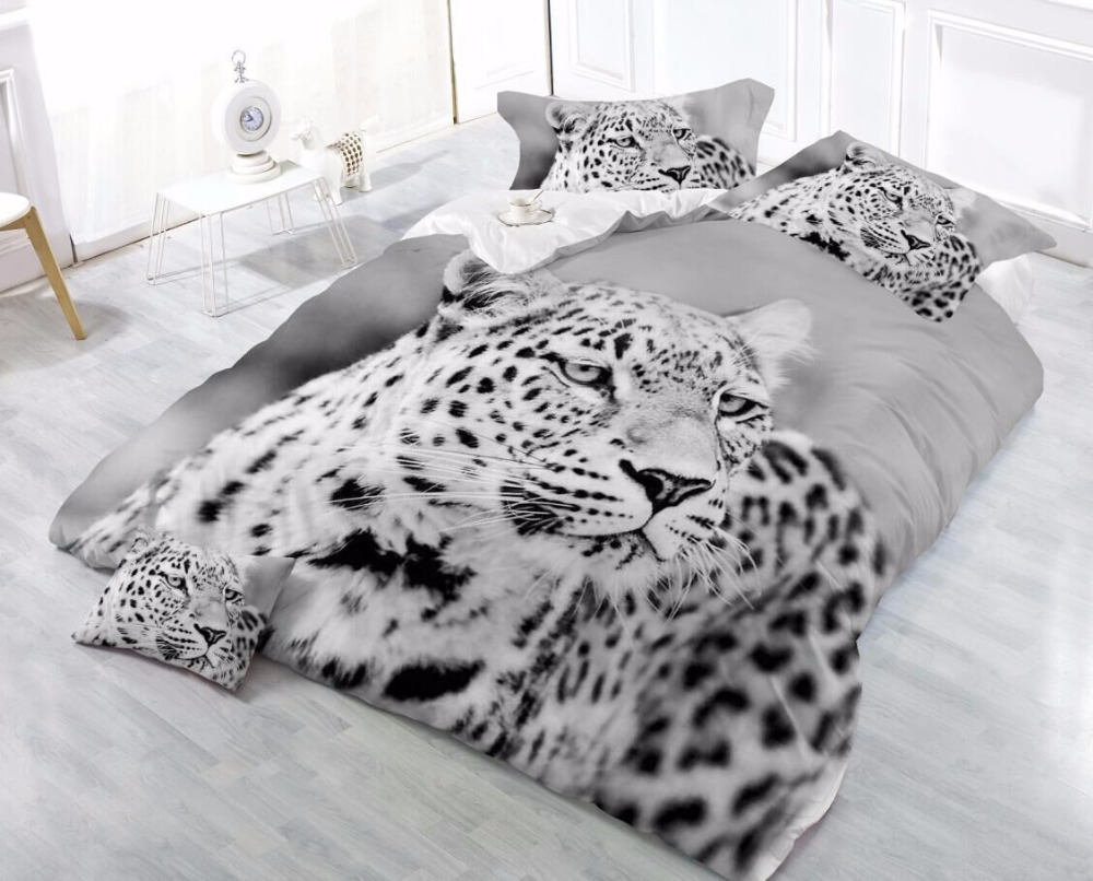 Réactive impression tigre/beau chat/Loup/lion/Adulte ensemble de literie feuille lit couverture taies roi dekbedovertrek literie