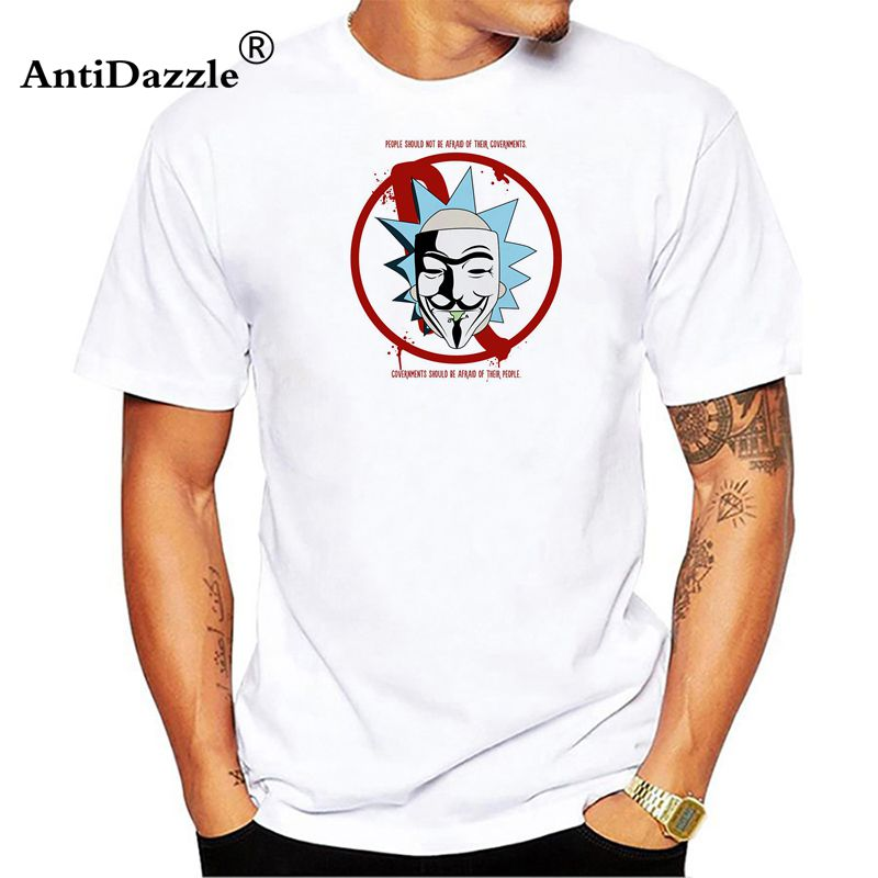 T-shirts Antidazzle 2018 Newest Rick And Morty Men T-shirt Fear Loathing Printed Fashion T Shirt Short Sleeve Basic Tee Shirts Cool Tops Attractive Designs;