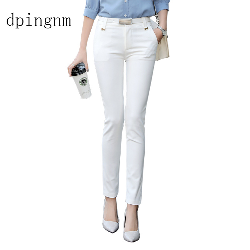 2020 NEW Women's Casual OL Office Pencil Trousers Girls's Cute 5 Colour Slim Stretch Pants Fashion Candy Jeans Pencil Trousers