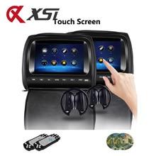 XST 2 шт. 9 дюймов сенсорный экран подголовник автомобиля монитор DVD видео плеер на молнии крышка TFT lcd IR/FM передатчик/USB/SD/динамик/игра