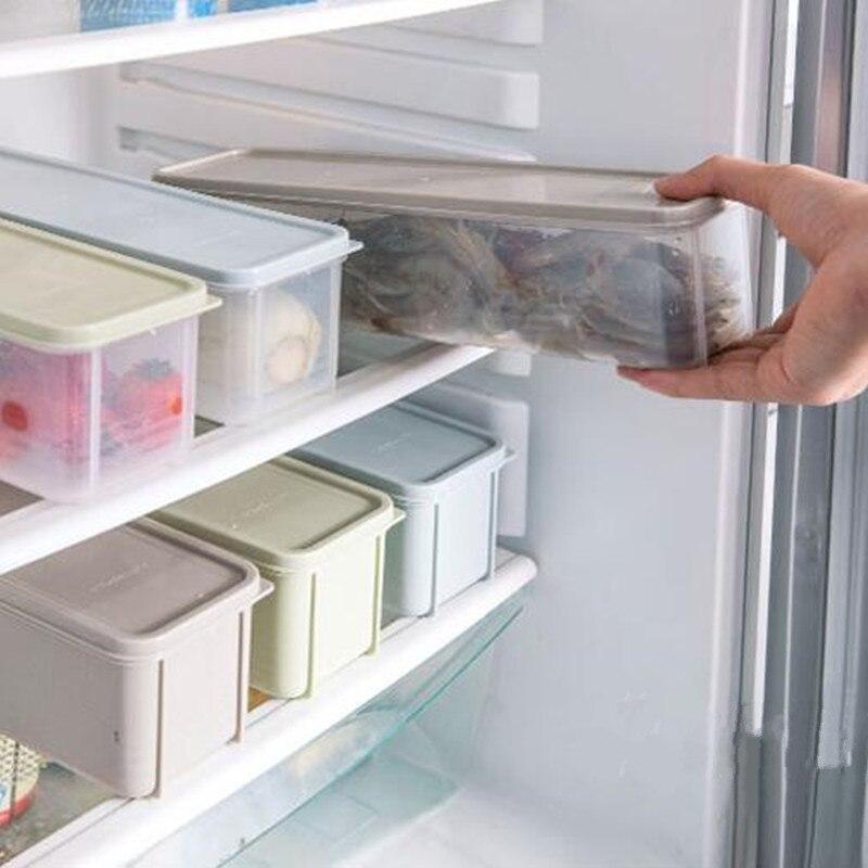 Прямоугольный холодильник пластиковый контейнер для хранения с крышкой пищу свежие холодильник контейнер для Кухня поставки