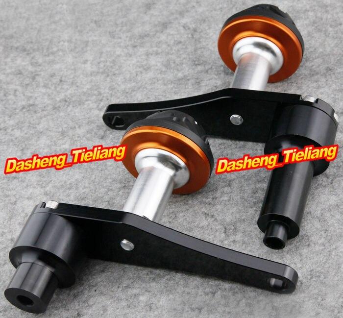 For Kawasaki Ninja ZX10R 2006 2007 Motorcycle Frame Sliders Crash Pads Protector 06 07, ORANGE Color, Spare Parts Supplies