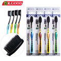 Hot Sale 4Pcs/Pack Soft toothbrush Bamboo Charcoal Toothbrush  Nano toothbrushToothbrush Bamboo Charcoal  Binchoutan wire brush