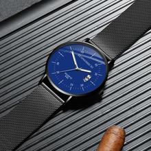 Casual Watch Simple Design Quartz Fashion Luminous Mens Watches Mesh Strap WristWatch Relogio Masculino Modern Gift