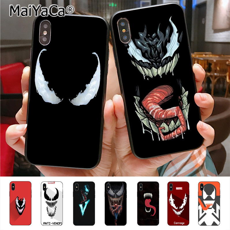 MaiYaCa Venom Newest Super Cute Phone Cases for iPhone X XS XR XS MAX 7plus 6 6s 7 8 8Plus 5 5C case