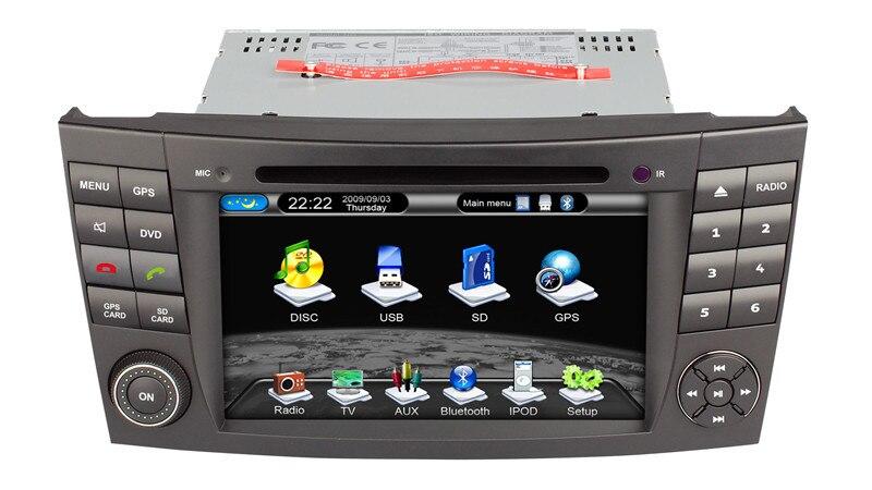 Mercedes Benz W211 car dvd player E Class 2005-2010 support GPS Navigation Bluetooth Stereo free 4g map card - henhaoro-shenzhen store