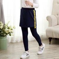 Free Shipping 3 13Y New Spring Autumn Girls Leggings Sport Kids Skirt Leggings Cotton Pants Children