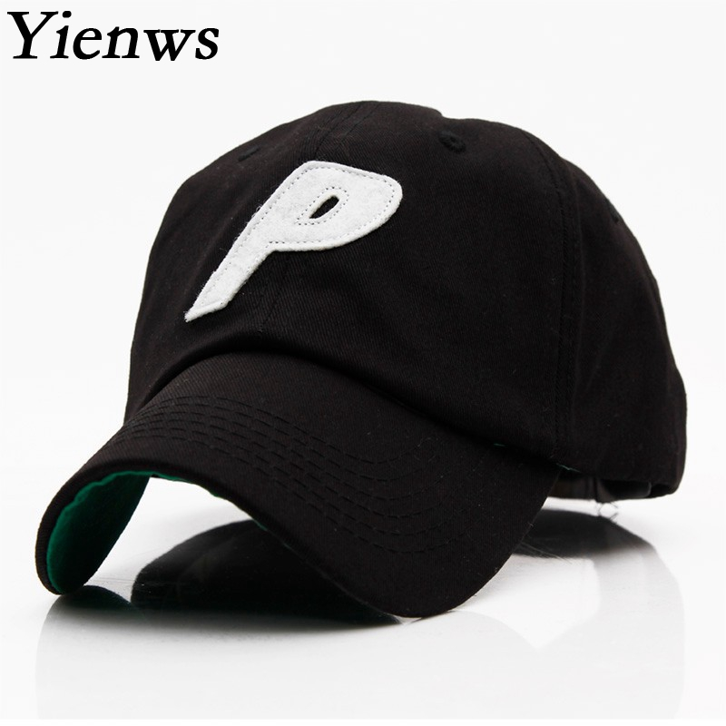 Yienws Woman Baseball Cap For Woman Hat Bone Brim Curved Full Cap Letter P Korean Pop Summer Trucker Cap YH309 картридж новая вода k990
