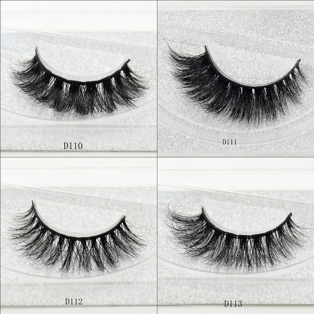 visofree 100% Handmade Eye Lashes 3D Real Mink Makeup Thick Fake False Eyelashes With Glitter Packing D108 2