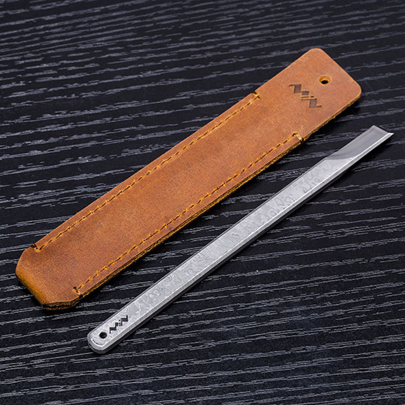 MINI MScraper Viper Stainless Steel Hand Tools Sharp Durable with Portable Leather Bag and 3000 Oilstone Tool Kit Set Exquisite
