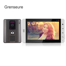 Promo offer FREE SHIPPING Home phone New 7″ Color White Touch Key Screen Video Door Phone Intercom System + Night Vision Camera IN STOCK