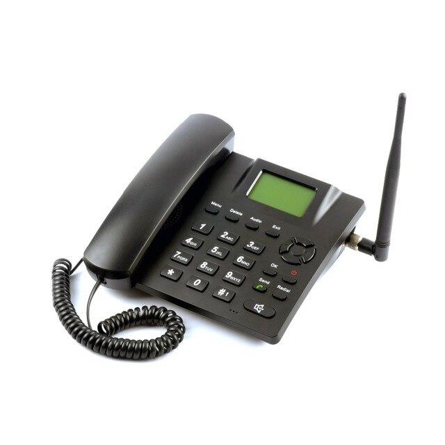 GSM 850/900/1800/1900 MHZ אלחוטי קבוע טלפון אלחוטי טלפון ה-sim הנעילה אנגלית רוסית צרפתית פורטוגזית תאילנדית איטלקית ערבית