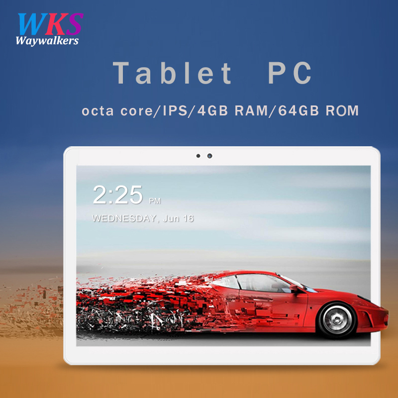 Envío libre 10,1 pulgadas tablet pc Android 7,0 RAM 4 GB ROM 32/64 GB Dual SIM Bluetooth WiFi 1920*1200 IPS tabletas inteligentes pc 10 10,1