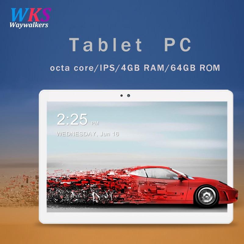 Envío libre 10,1 pulgadas tablet pc Android 7,0 RAM 4 GB ROM 32/64 GB Dual SIM Bluetooth WiFi 1920*1200 IPS tabletas inteligentes pc 10 10,1
