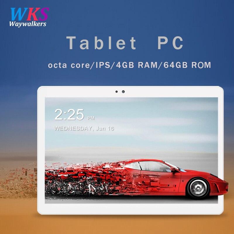 Freies verschiffen 10,1 zoll tablet pc Android 7.0 RAM 4 gb ROM 32/64 gb Dual SIM Bluetooth WiFi 1920*1200 IPS Smart tabletten pc 10 10,1