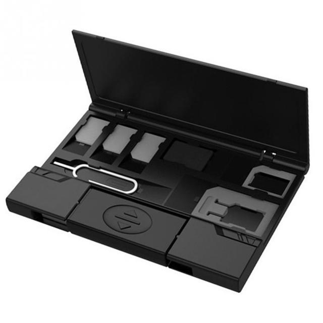 Micro Sim Nano tarjetas de almacenamiento ligero multifuncional soporte de la tarjeta SIM de la Caja
