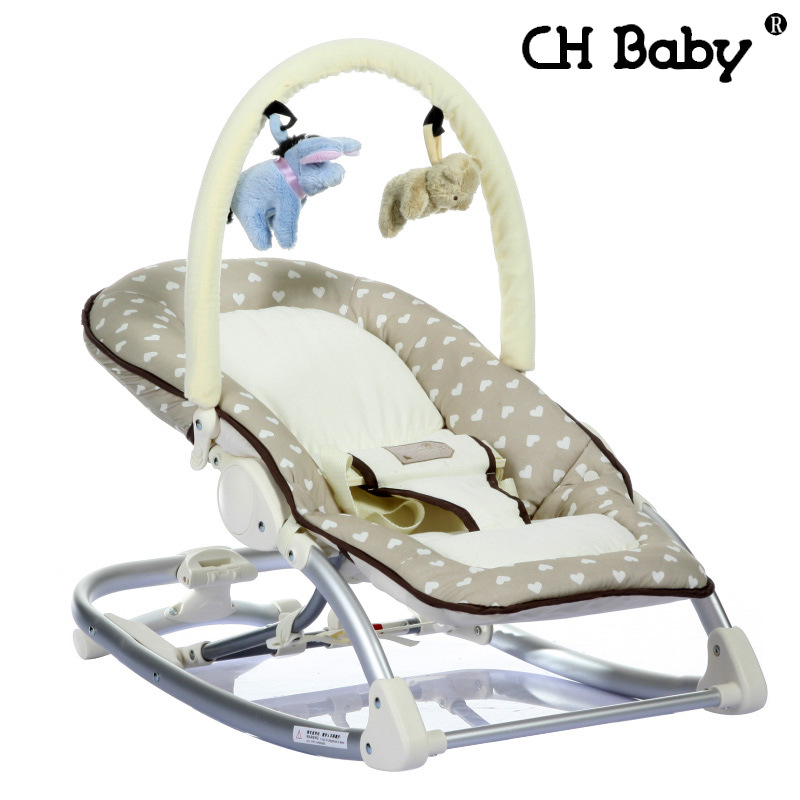 baby sleeper chair used stackable chairs free shipping mental rocking infant kids recliner cradle manual operation