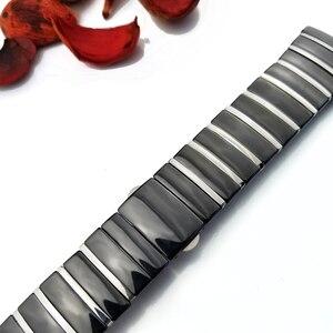 Image 4 - 20mm 29mm 32mm Keramik Uhr Band Armbanduhr für Rado Sintra Serie Marke Armband Mann Frau Schwarz