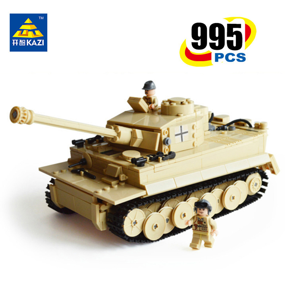 KAZI 995pcs Century Military Building Blocks German King Tiger Tank Model Enlighten Blocks Eductional Toys Compatible With legoe kazi 608pcs pirates armada flagship building blocks brinquedos caribbean warship sets the black pearl compatible with bricks