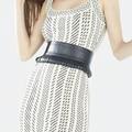 2017 марка дизайн женская кисточкой широкие ремни Мода Двойной Металлической Пряжки высокое качество кожаный ремень cummerbunds, платье аксессуары