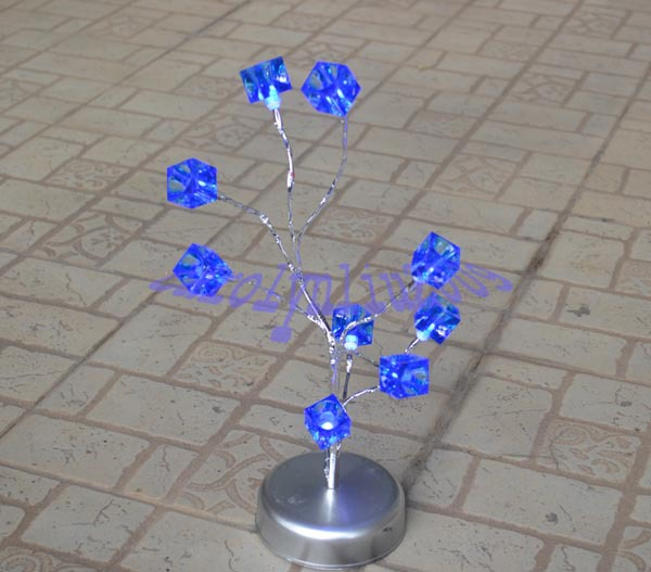Free Shipping 2pcs/lot LED Tree Lamp With Blue Ice Cube ~DIY LED Lamp