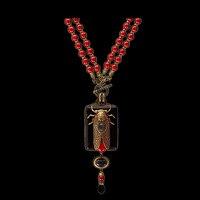 Amorita boutique vintage design cicada Keratoisis necklace