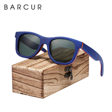 Barcur スケートボード木材サングラス眼鏡偏光男性/womenwood サングラス本物のサングラスボックスで送料