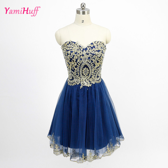 Cocktail kleid strass blau