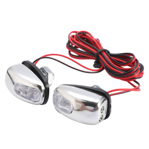 Image 3 - Boquilla de pulverización de chorro para parabrisas, luz LED blanca, accesorios para lámpara de limpiaparabrisas, 12V, 1 par