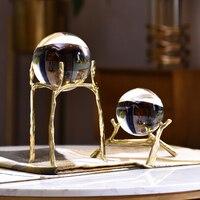 Photography Crystal Ball Ornaments FengShui Globe Figurine Divination Quartz Magic Glass Ball Home Decor Sphere Bola De Cristal