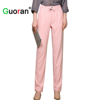 Sarvik Newest Linen Cotton Pants Long For Women Plus Size Female Black White Formal Office Work
