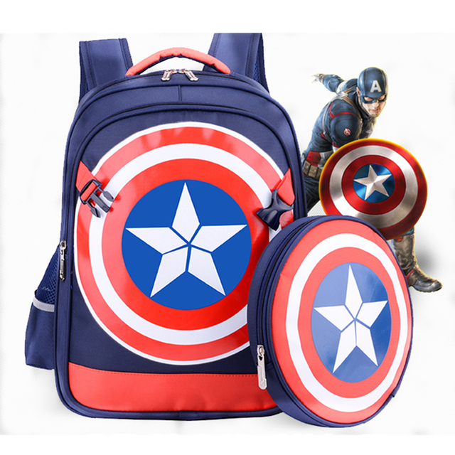 2940bd4c5f Captain America Shield Backpack The Avengers Children Schoolbag mochila  infantil detachable Shoulder bag Bolsas De Los Ninos 5