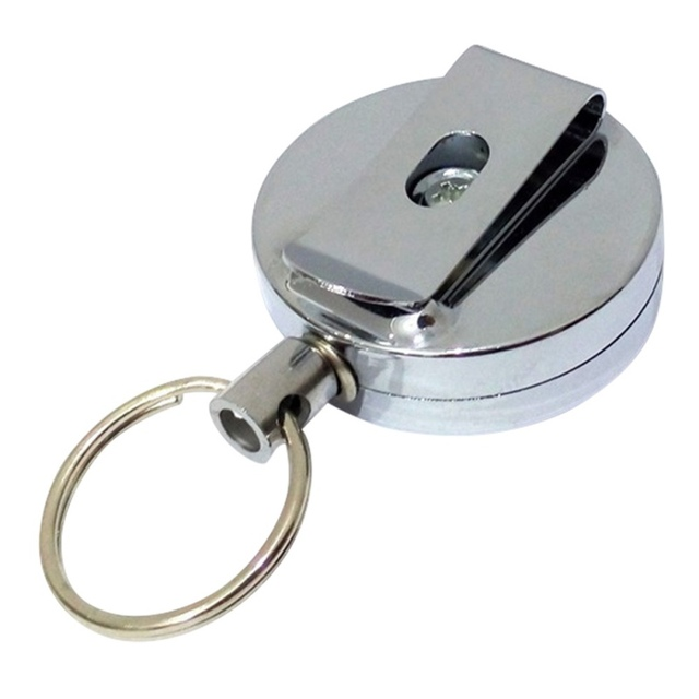 High Resilience Steel Key Chain Alarm KeyRing Anti Lost Keychain ...