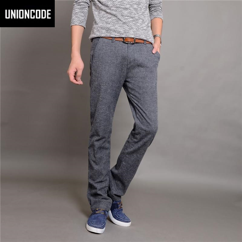 UNIONCODE Chinos Fit Linen Pants For Men Plus Size