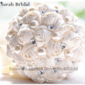 2017 Crystal Wedding Bouquet Red Brooch Bouquet Wedding Accessories Rose Artifical Wedding Flowers Bridal Bouquets WF005