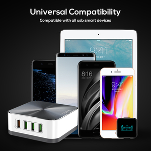 Image 5 - TOPK 50W Quick Charge 3.0 USB Charger 8 Port USB Mobile Phone Desktop Fast  Charger for iPhone Samsung Xiaomi EU US UK Plug