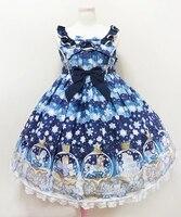 АО Для женщин Обувь для девочек Прекрасный Лолита сахар мечта купол Стиль платье в синий/белый 3 вида цветов размеры S и M Размер хрустальный ...