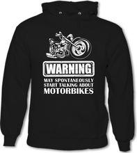 9424c6e78 2018 fashion man Hoodies Warning Talking About Motorbikes Mens Funny  Motorcycle Hoodie Biker Sweatshirt(China
