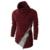 2016 Outono Homens Casuais Da Marca de Tricô Sweaters Pulôver Manga Comprida Camisola de Gola Alta Homens Vinho Patchwork Vermelho com Zíper Q38