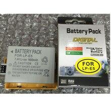 LP-E5 LPE5 литий-ионная аккумуляторная батарея LP E5 литиевая батарея LP-E5 для Canon EOS 1000D 500D 450D цифровая камера батарея